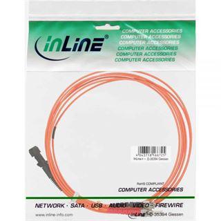 (€2,30*/1m) 3.00m InLine LWL Duplex Patchkabel 50/125 µm OM2 MT-RJ Stecker auf ST Stecker Orange