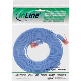 (€0,99*/1m) 7.00m InLine Cat. 6 Patchkabel flach U/UTP RJ45 Stecker auf RJ45 Stecker Blau