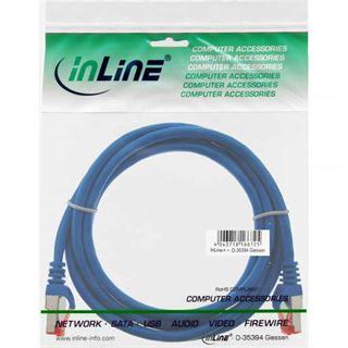 (€1,63*/1m) 3.00m InLine Cat. 6 Patchkabel S/FTP PiMF RJ45 Stecker auf RJ45 Stecker Blau PVC