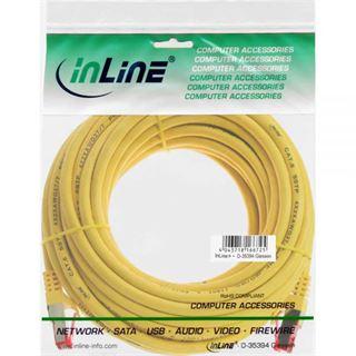 (€0,69*/1m) 10.00m InLine Cat. 6 Patchkabel S/FTP PiMF RJ45 Stecker auf RJ45 Stecker Gelb PVC