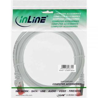 (€3,90*/1m) 1.00m InLine Cat. 6 Patchkabel S/FTP PiMF RJ45 Stecker auf RJ45 Stecker Weiß PVC
