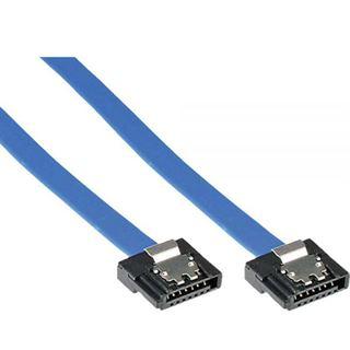 (€16,33*/1m) 0.30m InLine SATA 6Gb/s Anschlusskabel SATA Stecker auf SATA Stecker Blau kurzer Stecker