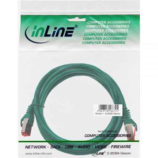 (€3,90*/1m) 1.00m InLine Cat. 6 Patchkabel S/FTP PiMF RJ45 Stecker auf RJ45 Stecker Grün PVC