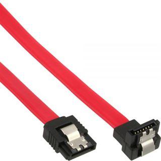 (€26,00*/1m) 0.15m InLine SATA Anschlusskabel SATA Stecker auf SATA Stecker gewinkelt Rot gewinkelt