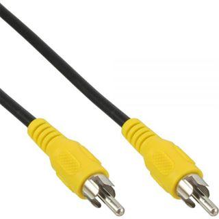 (€3,90*/1m) 1.00m InLine Video Anschlusskabel Cinch Stecker auf Cinch Stecker Gelb