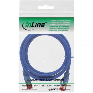 (€2,45*/1m) 2.00m InLine Cat. 6 Patchkabel S/FTP PiMF RJ45 Stecker auf RJ45 Stecker Blau halogenfrei