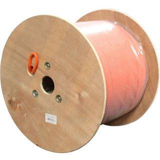 (€1,97*/1m) 300.00m InLine Cat. 7a Rohkabel Verlegekabel S/FTP PiMF 1200MHz Orange Duplex / halogenfrei