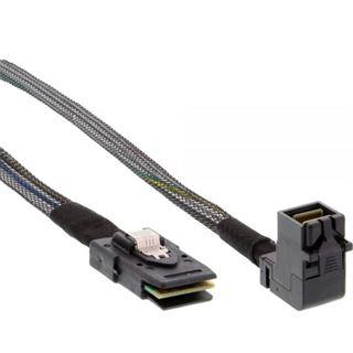 (€35,90*/1m) 1.00m InLine SAS 6Gb/s Anschlusskabel gewinkelt SFF-8643 Stecker auf SFF-8087 Stecker Schwarz mit Sideband