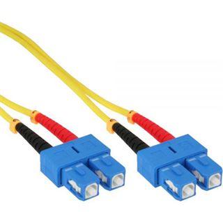 (€0,93*/1m) 15.00m InLine LWL Duplex Patchkabel 9/125 µm OS1 SC Stecker auf SC Stecker Gelb