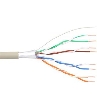 25.00m InLine Telefon Anschlusskabel 8-adrig ohne Stecker Grau