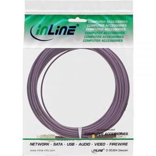 (€3,09*/1m) 10.00m InLine LWL Duplex Patchkabel 50/125 µm OM4 SC Stecker auf ST Stecker Violett