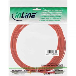(€1,56*/1m) 7.00m InLine LWL Duplex Patchkabel 50/125 µm OM2 LC Stecker auf SC Stecker Orange