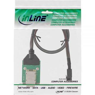 InLine SAS HD low profile PCI Slotblech mit Kabel, ext. SFF-8088 auf int. SFF-8643, 0,5m