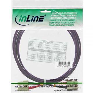 (€3,63*/1m) 3.00m InLine LWL Duplex Patchkabel 50/125 µm OM4 SC Stecker auf SC Stecker Violett
