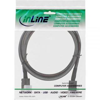 (€39,90*/1m) 1.00m InLine SAS 6Gb/s Anschlusskabel SFF-8643 Stecker auf SFF-8643 Stecker Schwarz mit Sideband
