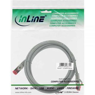 (€2,45*/1m) 2.00m InLine Cat. 6 Patchkabel S/FTP PiMF RJ45 Stecker auf RJ45 Stecker Grau halogenfrei