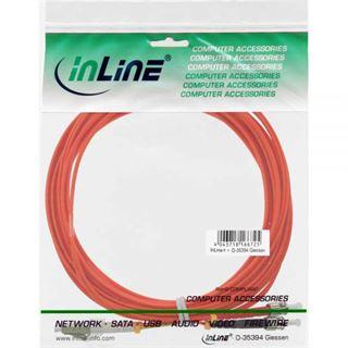 (€0,76*/1m) 25.00m InLine LWL Duplex Patchkabel 50/125 µm OM2 LC Stecker auf ST Stecker Orange