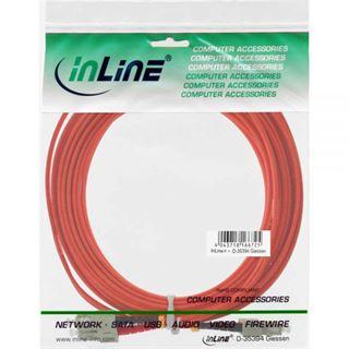 (€0,92*/1m) 25.00m InLine LWL Duplex Patchkabel 50/125 µm OM2 SC Stecker auf SC Stecker Orange