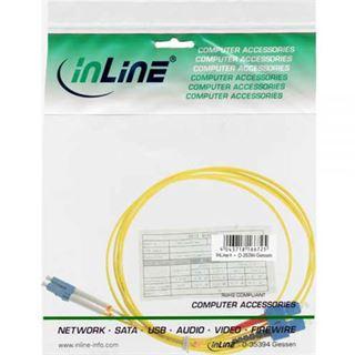 (€4,45*/1m) 2.00m InLine LWL Duplex Patchkabel 9/125 µm OS2 LC Stecker auf SC Stecker Gelb