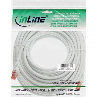 (€0,56*/1m) 50.00m InLine Cat. 6 Patchkabel S/FTP PiMF RJ45 Stecker auf RJ45 Stecker Weiß Kupfer / PVC