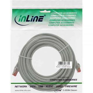 (€0,42*/1m) 40.00m InLine Cat. 6 Patchkabel S/FTP PiMF RJ45 Stecker auf RJ45 Stecker Grau Kupfer / PVC
