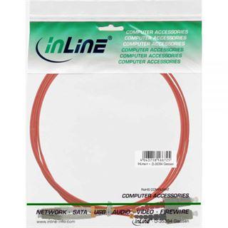 (€17,80*/1m) 0.50m InLine LWL Duplex Patchkabel 50/125 µm OM2 LC Stecker auf SC Stecker Orange