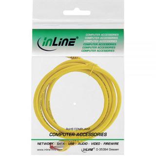 (€2,30*/1m) 3.00m InLine Cat. 6 Patchkabel S/FTP PiMF RJ45 Stecker auf RJ45 Stecker Gelb halogenfrei