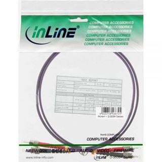(€19,80*/1m) 0.50m InLine LWL Duplex Patchkabel 50/125 µm OM4 ST Stecker auf ST Stecker Violett