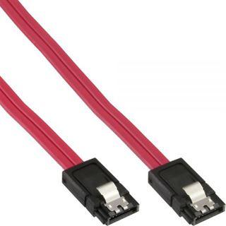 (€13,00*/1m) 0.30m InLine SATA 6Gb/s Anschlusskabel SATA Stecker auf SATA Stecker Rot flach