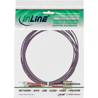 (€19,80*/1m) 0.50m InLine LWL Duplex Patchkabel 50/125 µm OM4 SC Stecker auf ST Stecker Violett