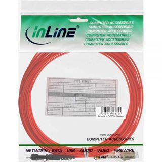 (€5,45*/1m) 2.00m InLine LWL Duplex Patchkabel 50/125 µm OM2 MT-RJ Stecker auf ST Stecker Orange