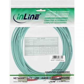 (€1,33*/1m) 15.00m InLine LWL Duplex Patchkabel 50/125 µm OM3 SC Stecker auf SC Stecker Türkis