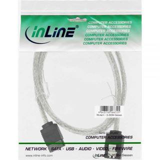 (€6,53*/1m) 0.75m InLine SATA 6Gb/s Anschlusskabel SATA Stecker auf SATA Stecker Transparent