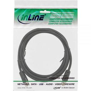 (€0,30*/1m) 5.00m InLine Antenne Anschlusskabel doppelt geschirmt IEC-Stecker auf IEC-Buchse Schwarz vernickelt