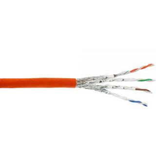 (€1,27*/1m) 300.00m InLine Cat. 7a Rohkabel Verlegekabel S/FTP PiMF 1200MHz Orange halogenfrei