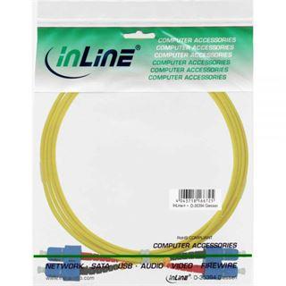 (€4,95*/1m) 2.00m InLine LWL Duplex Patchkabel 9/125 µm OS2 SC Stecker auf SC Stecker Gelb