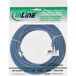 (€2,25*/1m) 7.50m InLine Cat. 6a Patchkabel S/FTP PiMF RJ45 Stecker auf RJ45 Stecker Blau halogenfrei
