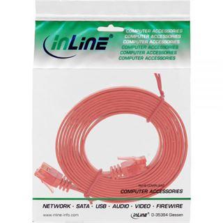 (€0,79*/1m) 10.00m InLine Cat. 6 Patchkabel flach U/UTP RJ45 Stecker auf RJ45 Stecker Rot