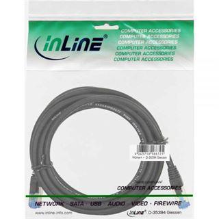 (€4,90*/1m) 1.00m InLine Cat. 6a Patchkabel S/FTP PiMF RJ45 Stecker auf RJ45 Stecker Schwarz halogenfrei