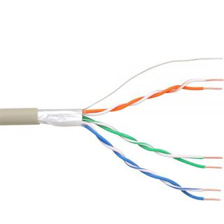 (€0,24*/1m) 100.00m InLine Telefon Verlegekabel 6-adrig ohne Stecker Grau Rolle