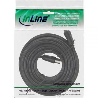 10.00m InLine Antenne Anschlusskabel doppelt geschirmt IEC-Stecker auf IEC-Buchse Schwarz vernickelt