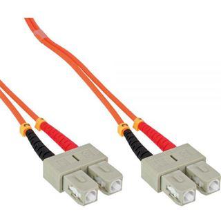 (€0,70*/1m) 50.00m InLine LWL Duplex Patchkabel 50/125 µm OM2 SC Stecker auf SC Stecker Orange