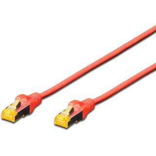 (€2,30*/1m) 3.00m Digitus Cat. 6a Patchkabel S/FTP RJ45 Stecker auf RJ45 Stecker Rot