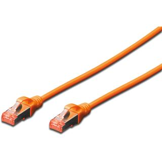 (€7,80*/1m) 0.50m Digitus Cat. 6 Patchkabel S/FTP RJ45 Stecker auf RJ45 Stecker Orange
