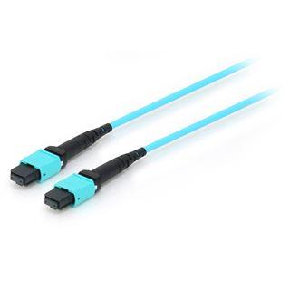 (€13,35*/1m) 20.00m Equip LWL Single-Mode Patchkabel 50/125 µm OM4 MTP Stecker auf MTP Stecker Blau