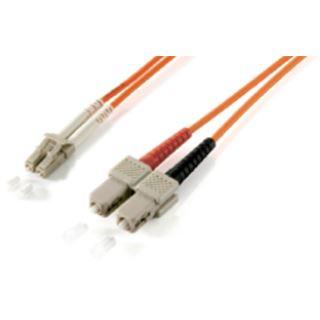(€2,97*/1m) 3.00m Equip LWL Duplex Patchkabel 50/125 µm OM3 LC Stecker auf SC Stecker Türkis