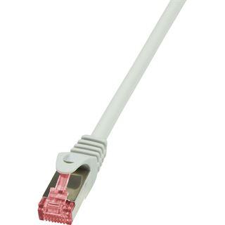 (€2,60*/1m) 1.50m LogiLink Cat. 6 Patchkabel S/FTP PiMF RJ45 Stecker auf RJ45 Stecker Grau