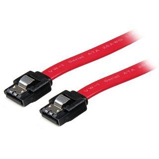 (€46,00*/1m) 0.15m Startech SATA 6Gb/s Anschlusskabel SATA Stecker auf SATA Stecker Rot mit Arretierung / PVC