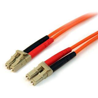 (€1,99*/1m) 10.00m Startech LWL Duplex Patchkabel 50/125 µm OM2 LC Stecker auf LC Stecker Orange