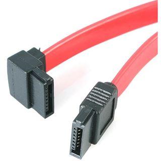 (€32,67*/1m) 0.15m Startech SATA 6Gb/s Anschlusskabel gewinkelt oben SATA Stecker auf SATA Stecker Rot/Schwarz